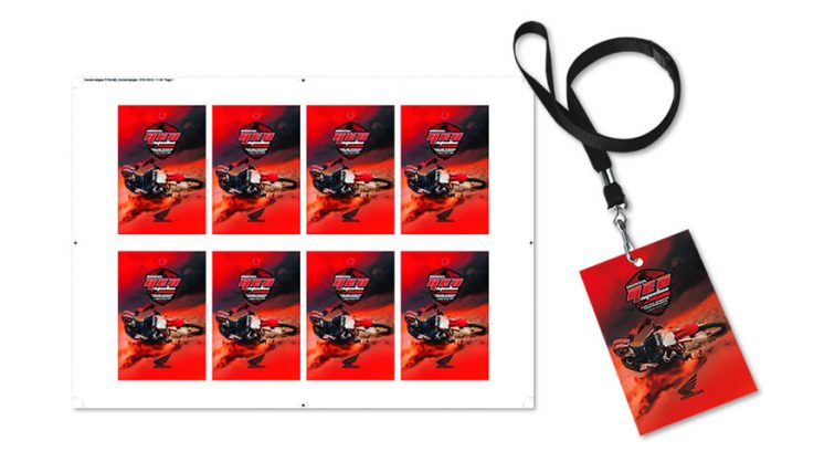 Graphic Arts printing - badge lanyard
