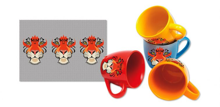 Graphic Arts promotional mug printing